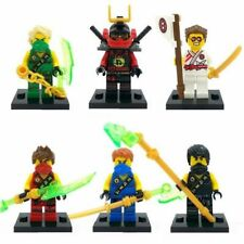 6 Sets Minifigures Flying Phantom Ninjago Ninja Zane Lloyd Nya Cole Blocks Toys