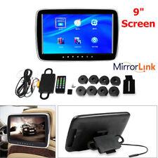"9"" Ultra-thin Car Headrest Monitor MP5 Player Mirror Link FM HD Video Screen Kit"