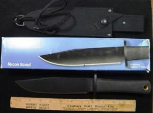 Vintage Cold Steel Recon Scout made in USA Carbon V Steel New in Box w sheath
