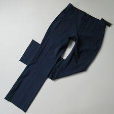 NWT Banana Republic Logan Trouser in Blue Plaid Washable Wool Straight Pants 2s