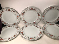 6 SHEFFIELD ''ANNIVERSARY'' PORCELAIN FINE CHINA-JAPAN DINNER PLATES 10 1/2''