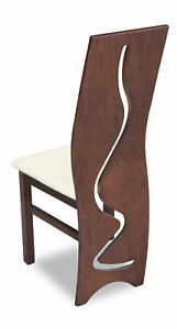 Luxury Design Pads Chair Chairs Seat Lehn Office Dining Room Wood K3 Solid