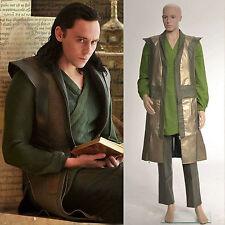 Thor The Dark World Loki Laufeyson Leather Vest Cosplay Costume Halloween Outfit