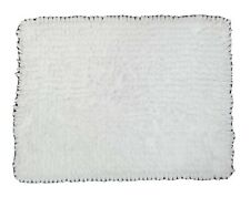 """Laura Ashley Bath Rug Chenille White Sz 24"""" x 17"""" New Without Tag"""