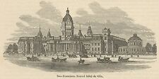 C8636 California - San Francisco - New Hotel - Stampa antica - 1892 Engraving
