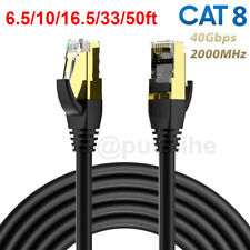 Cat 8 Ethernet Rj45 Lan Cable Super Speed 40 Gbps Patch Network Gold Plated Lot