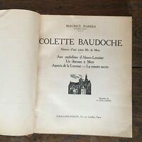 Maurice Bars Colette Baudoche Histoire D' Une Jeune Mädchen, Metz Delagrave in4