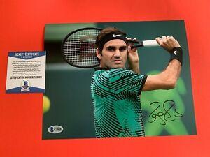 Roger Federer Champions 8x10 Photo Signed Auto Beckett BAS COA