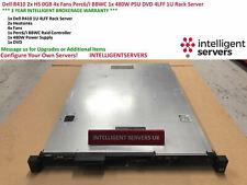 Dell R410 2x HS 0GB 4x Fans Perc6/i BBWC 1x 480W PSU DVD 4LFF 1U Rack Server