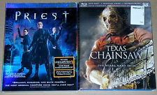 Horror Blu-ray 3D Disc Lot - Priest (Used) Texas Chainsaw (Used)