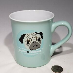 Pugs & Kisses Coffee Tea Mug Dog PUG Puppy by Love Your Mug Lips Inside Mug