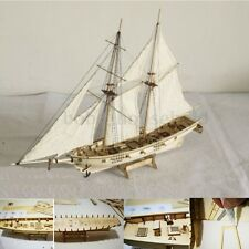 1:100 Scale Wooden Small Sailboat Ship Kits Home Model Decoration Boat Nautical