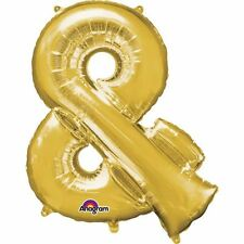 "Symbol & Gold Foil Balloon 16"" 40cm Air Fill Age Name Birthday Anniversary"