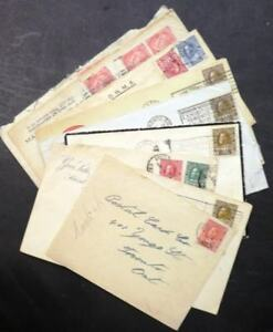 EDW1949SELL : CANADA Nice group of 10 mostly Back of Book covers