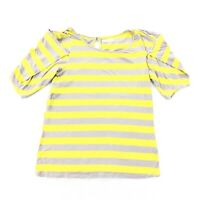 Anthropologie Pilcro and the Letterpress Top Size Medium Striped Yellow Gray