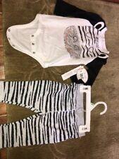 Sz 6 M Koala Baby Zebra Outfit Top Pants NWT