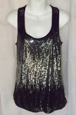 Julie's Closet Black with Silver Sequin Tank Top