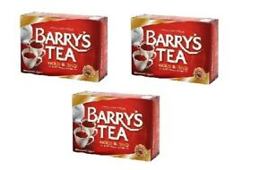 Barry's Tea GOLD BLEND 80 Tea Bags/ Red Label (Pack of 3) SOLD BY DSDELTA IRE