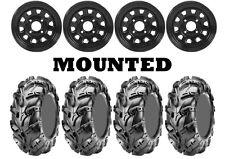 Kit 4 CST Wild Thang CU05 Tires 26x9-12/26x11-12 on ITP Delta Steel Black IRS
