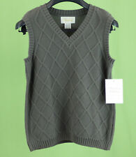 215 NWT Strasburg boy Gray holiday knitted vest Size 8-10Y