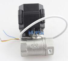 "Full Bore 3/4"" DC12V SS304 Motorized Ball Valve,Electrical Valve CR-02 From US"