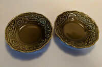 Regency Ironstone Canonsburg Pottery Green Fruit Desert Bowl vintage Mid Century