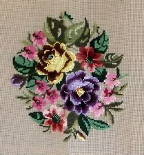 "NWT Needlepoint Canvas Monica Import Floral 27"" x 27"" Preworked Design"