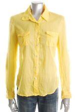 New FAMOUS CATALOG Moda Women Casual Button-Down Shirt Long Sleeve Sz L