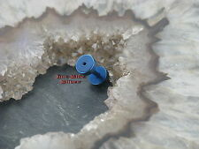 Fake piercing plug tunnel blu orecchini a bottone orecchini 1,2mm