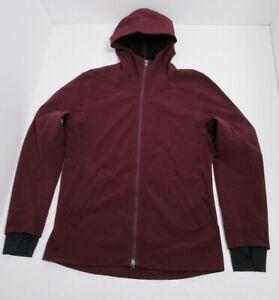 Lululemon Men's PNW Jacket Color Bordeaux Drama Size XL Full Zip Waterproof