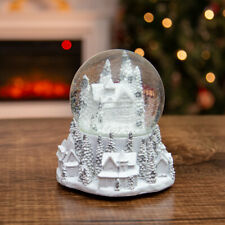 Wind Up Musical Snowglobe House Shake Glitter Dome Christmas Holiday Decoration