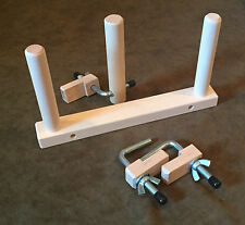 Hard Maple Warping Peg Set w/ Clamps for a Weaving Loom