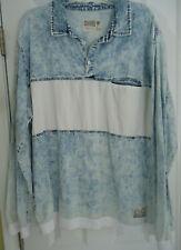 Chubbies Shorts Brand Denimy Of The State Acid Wash Denim Shirt sz XXL - RARE
