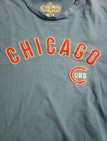 Chicago Cubs Vintage Red Jacket Shirt, Blue. W| Embroidered Cubs Logo MENS Sz L
