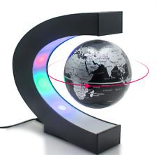 C shape Decoration Magnetic Levitation Floating Globe World Map LED Light Gift