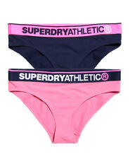 New Womens Superdry Athletic Briefs Double Pack D Ny Ml