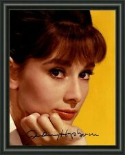 AUDREY HEPBURN  A4 SIGNED AUTOGRAPHED PHOTO POSTER  FREE POST