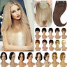 Neat/Side Bangs Real as Human Hair Extensions Clip in Fringe Front Hairpiece USA