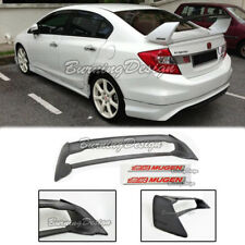 Rear Trunk Spoiler For 06-11 Honda Civic Sedan FD2 FA2 Mugen Red emblem RR ABS