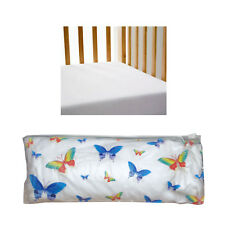 Gypsy Kids Quality 100% Cotton Baby Cot Fitted Sheet - Plain White