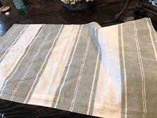 Ralph Lauren OakView King Striped Pillow Sham White & Green New *Free Shipping*