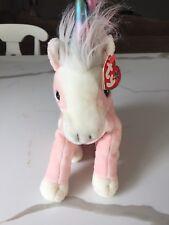 CHARMER the Pink  Unicorn HORSE  - Ty Beanie BUDDY, TUSH TAG 2003 Near Mint!!
