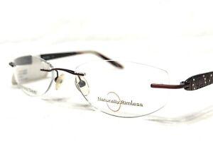 NEW Naturally Rimless NR-329 CRM Women's Burgundy Rx Eyeglasses Frames 52/18~135
