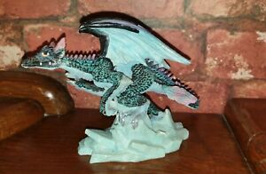 Regency Fine Arts Blue Ice Dragon Figurine