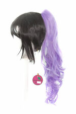 23'' Curly Pony Tail Clip Lavender Purple Cosplay Wig Clip Only NEW