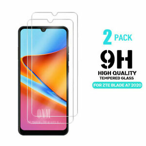2 Pack Tempered Glass Screen Protector For ZTE BLADE A5 A7 A7S 2020 A7 A7S 2019