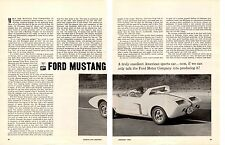 1964 FORD MUSTANG  ~  ORIGINAL 4-PAGE ROAD TEST / ARTICLE