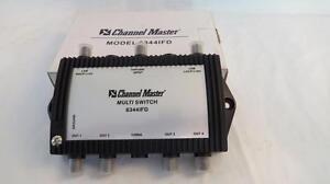 Channel Master 6344IFD 3X4 Way Multiswitch 2-Satellite Signal 1-UHF/VHF Antenna