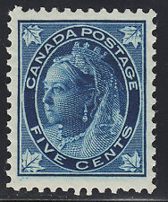 Canada 5c QV Leaf, Scott 70, VF MNH, catalogue - $750