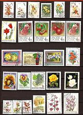 106T1 HONGRIE , Belle planche de 26 timbres obliteres : Fleurs et fruits